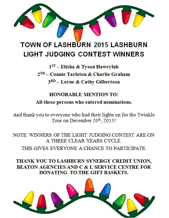 light judging 2015 Winners