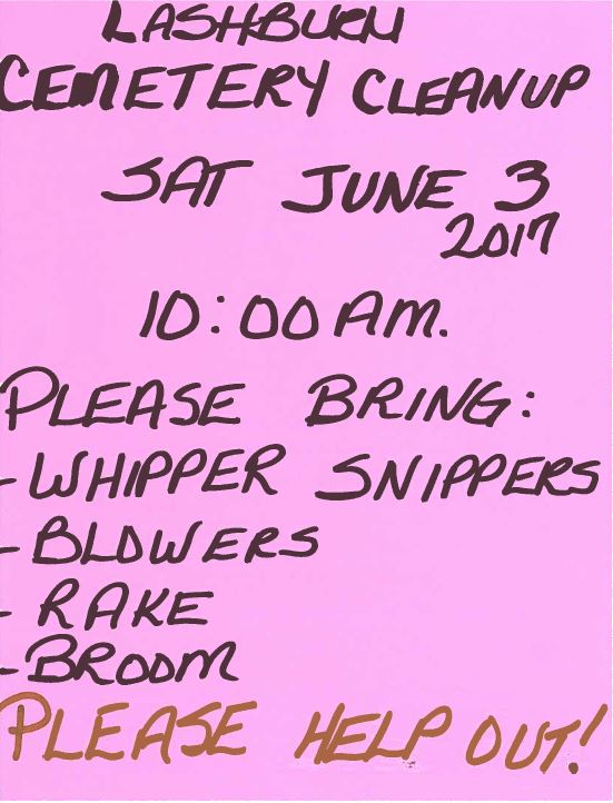 Cemetery Cleanup 2017